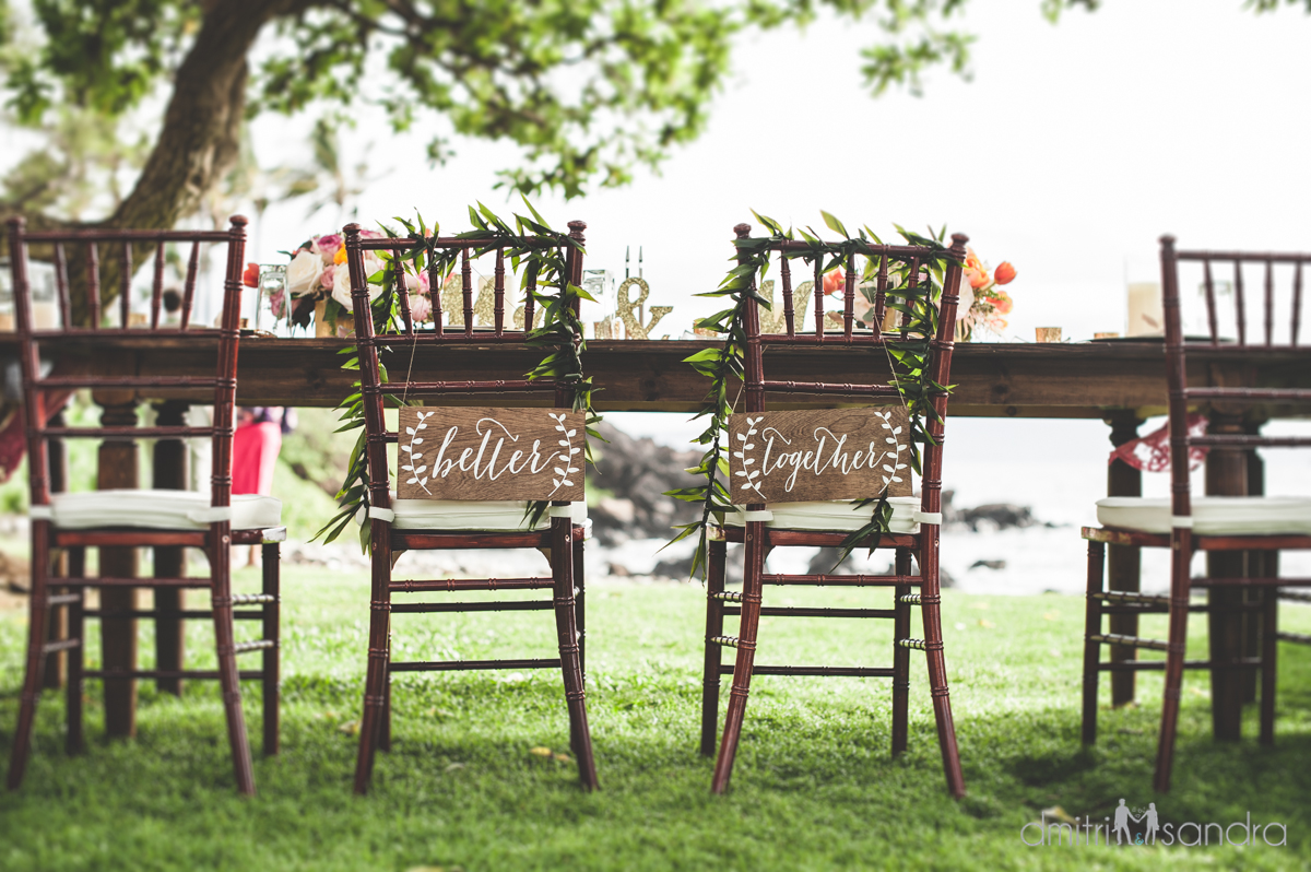 Bliss Wedding Design & Spectacular Events - chair signs