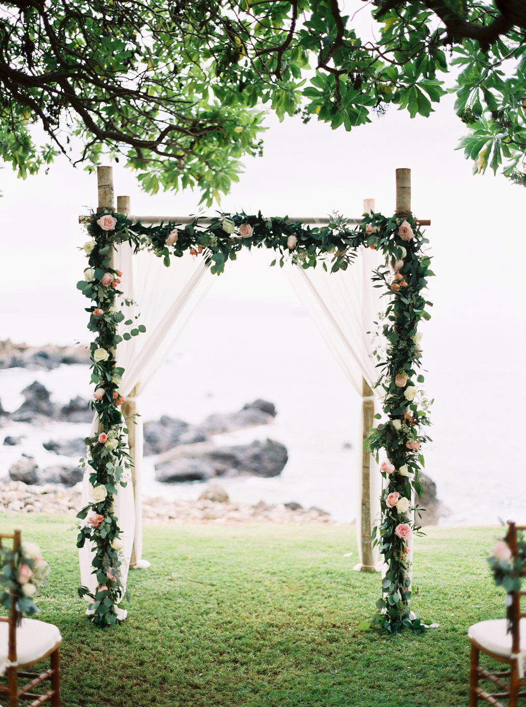 wedding ceremony arch - florals by Petals