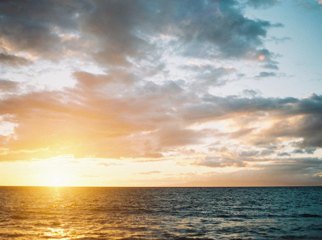 Sunset Oceanview Maui Hawaii