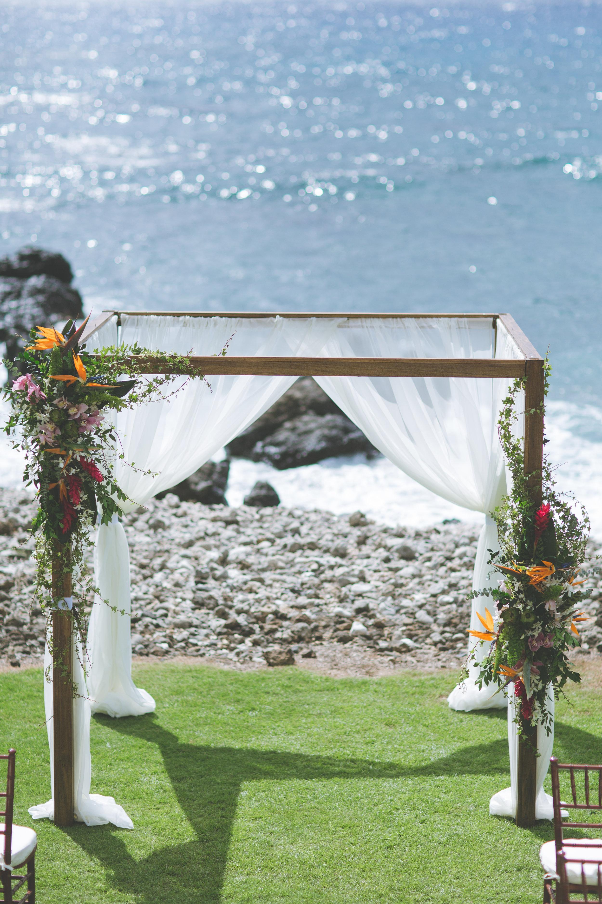 Bliss Maui Wedding - Dmitri and Sandra Photography - wedding arch