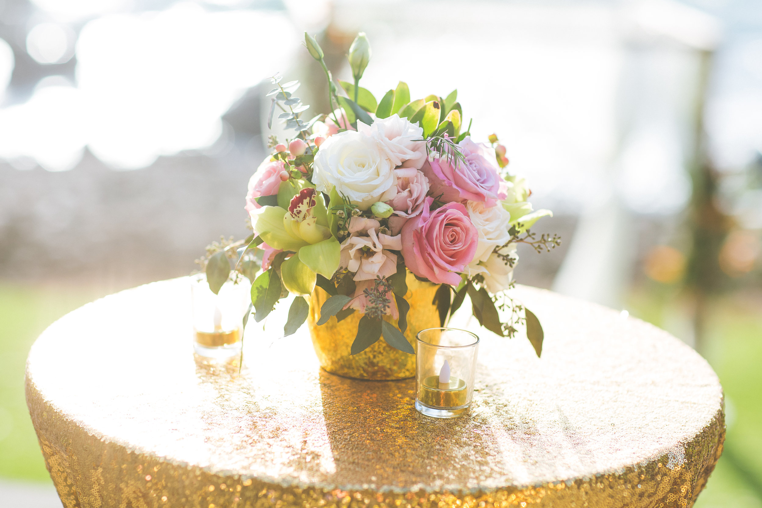 Gold & Flowers - wedding details by Bliss and Petals - Dmitri and Sandra Photography