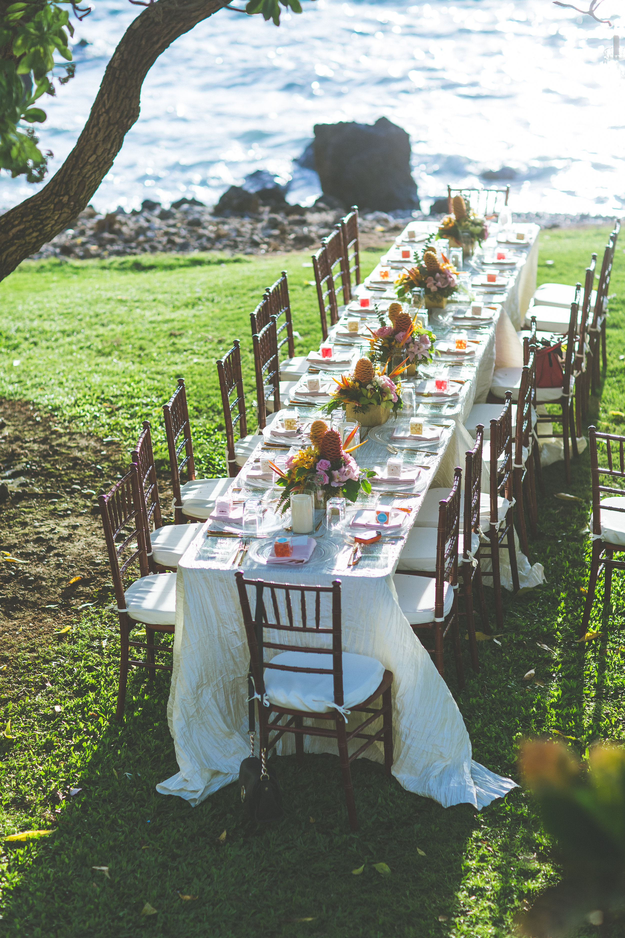 tropical wedding reception by Bliss - Dmitri and Sandra Photography