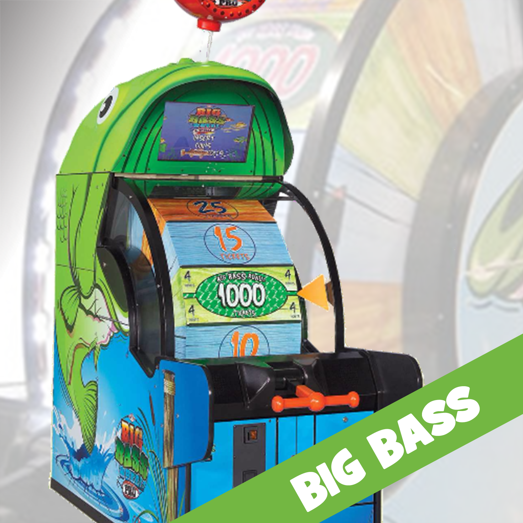 Reel in the Fun! step up and pull the handle to spin the big wheel. When the wheel stops, players are rewarded with tickets. For an even bigger catch, TRY AND LAND ON THE MAJOR PRIZE OF 1000 tickets for a perfect spin!