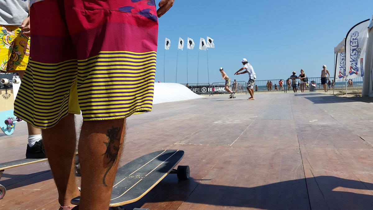 surf coaching with Carver Skateboards