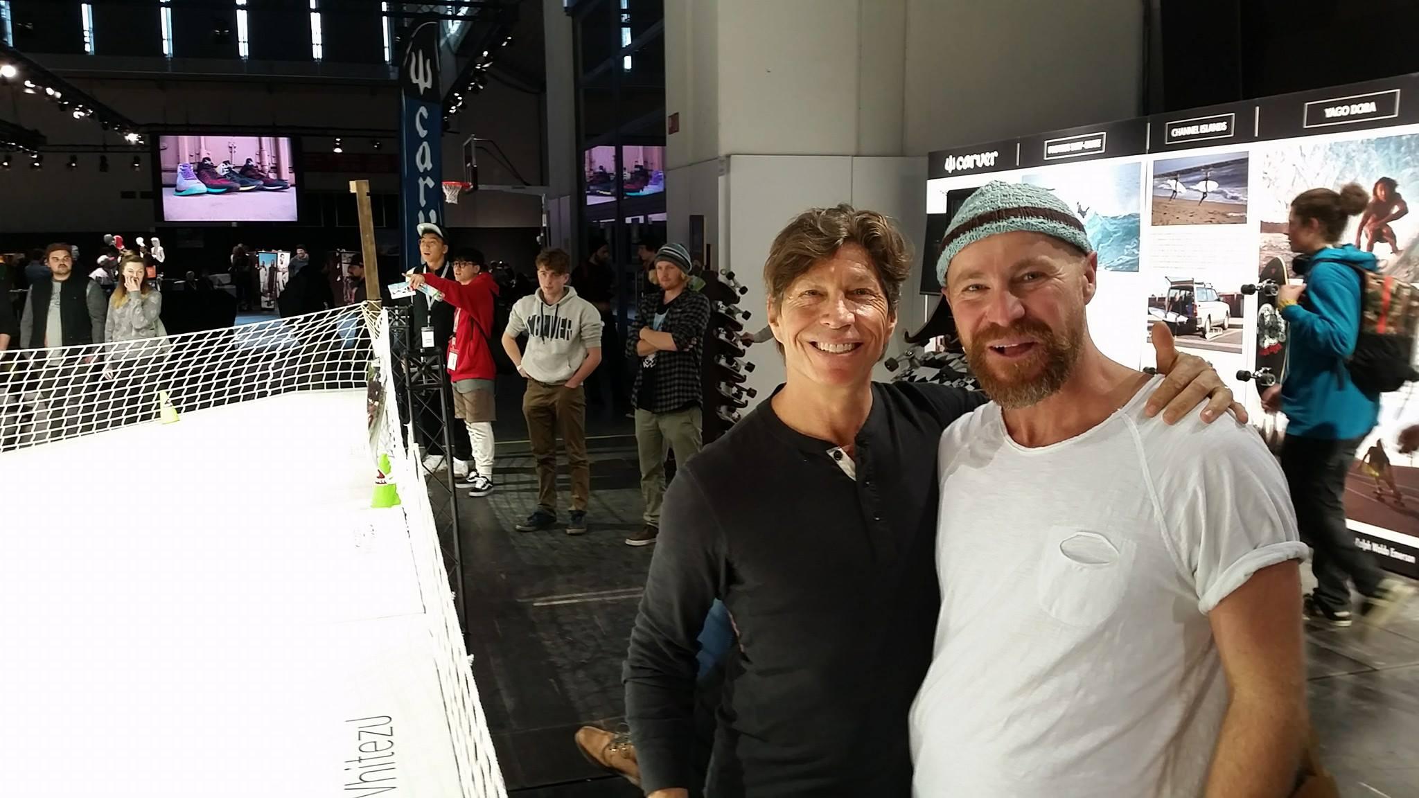 Greg and Stefano at Carver booth ISPO 2017