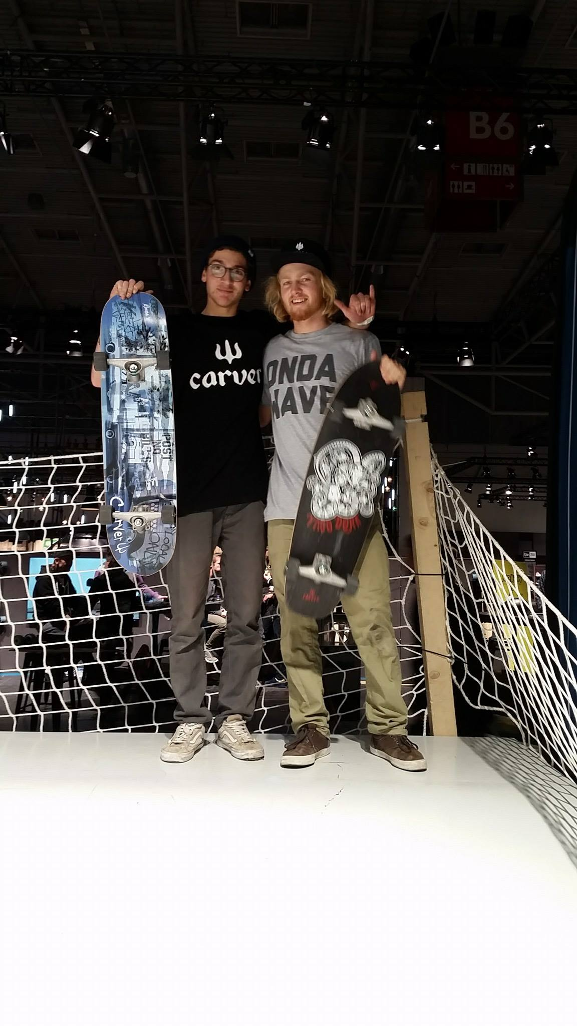 Jack and Marvin Surfskating the Whitezu Wave at ISPO Munich