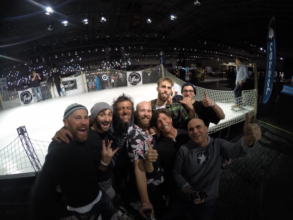 Whitezu and Carver Skateboards at ISPO Munich