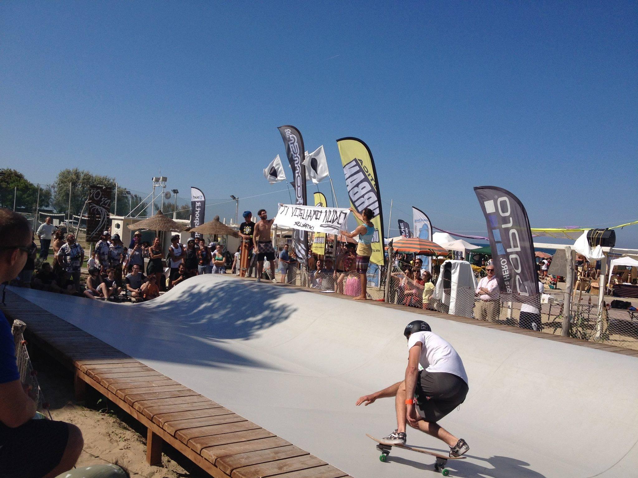 Luca Boari surfing the Whitezu PRO Training surfskate spot at Soul Hands Festival