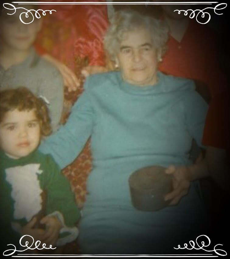 Enrichetta Aimola, Helen's grandmother, with Helen when she was a young girl.