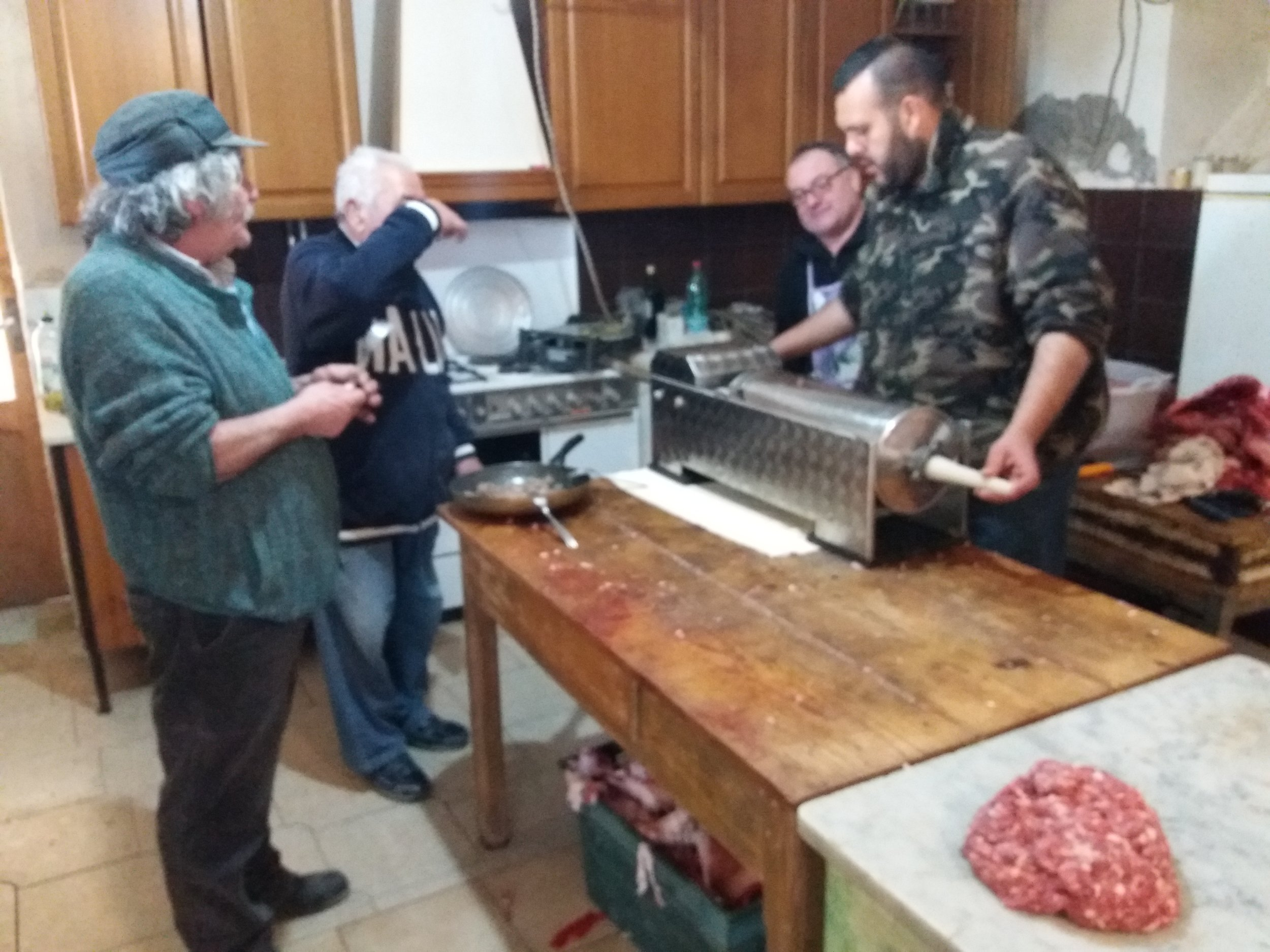 The guys making sausages.