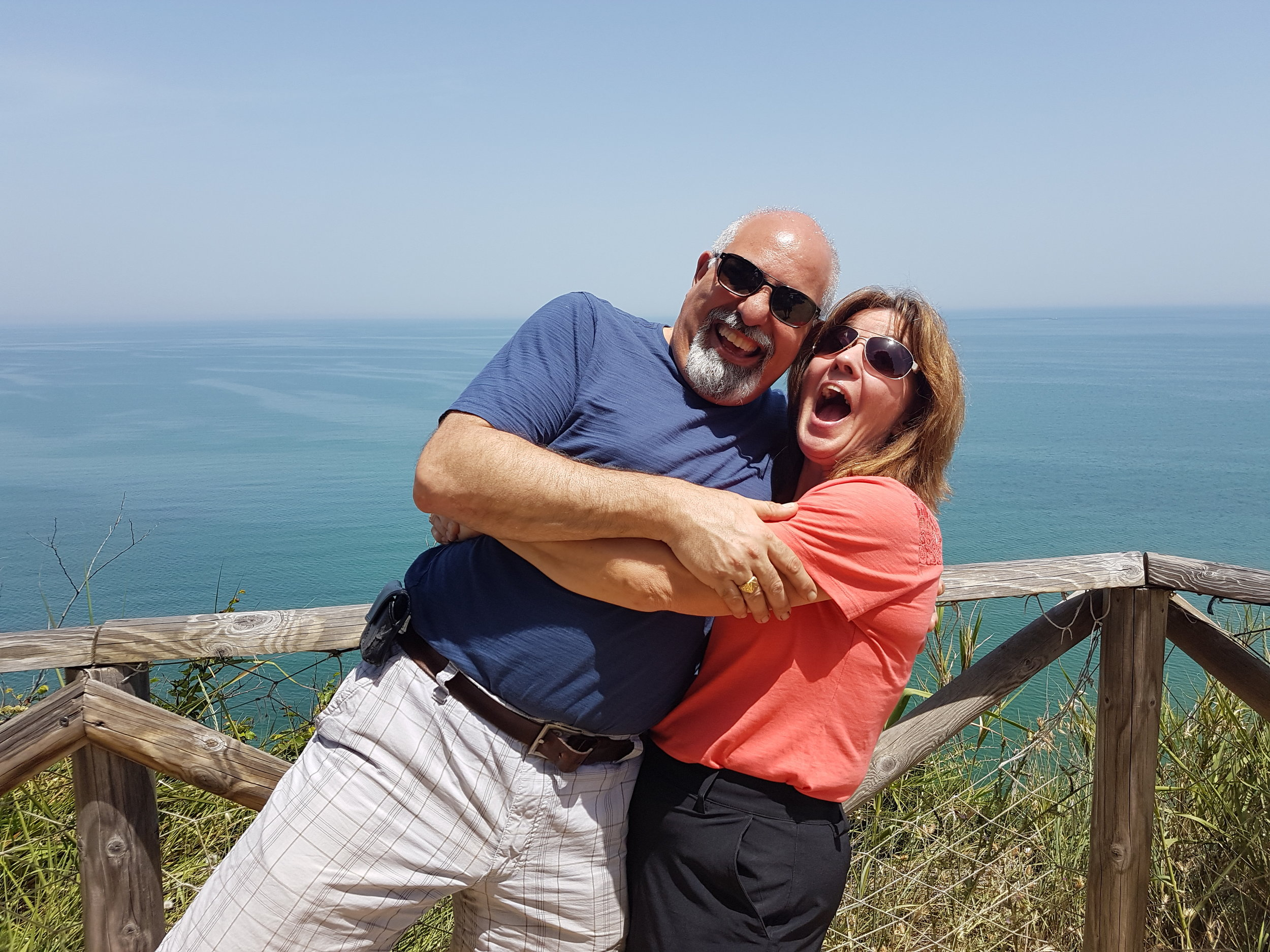 We were encouraged by a number of friends to go to Amazing Abruzzo Tours for a great trip. We wondered what the fuss was all about. After checking the website and reviews and then speaking to more friends it came apparent that we just had to go. After checking dates with Jake, we booked a year in advance - never did that before! A lot can happen in a year, but the date came up as fast as we booked it. Lo and behold we found ourselves at the Rome airport and Jake looking for us while we're drinking our first Americano ... and the rest is history, literally. We never looked back as our dreams came true and amazing trip memories began day one. Each day started the same and ended the same, but something was happening beyond our wildest expectations. The first day was absolutely amazing and as the week progressed each day got better with the crescendo on day six - we were actually pinching ourselves to see if this was real. This sounds all quite exaggerated however the other couples, who we met for the first time, were saying the same things. All of us were experienced travelers and yet we were all beginning to experience a different sort of holiday. The only way I can express it is that we weren't treated or feeling like tourists but as locals, even better as family. We can't say enough about the staff, in order of appearance: Eva, Cesidia, Luca, Giuseppe, Angela, Orazio, Sabrina and Nora - and of course, our wonderful and gracious hosts, Jake and Lisa. The villa, rooms, food, wine, tours impecable! Yes, this is a tall order to maintain but here's the thing, we all talked about coming back. Now I haven't spoken of the details of the things we saw and experienced but that's the best part of the journey - not knowing what to expect and then to be blown away each and every day. Put Amazing Abruzzo Tours on your bucket list, your must travel list, your things to do today list and come and see what the fuss is all about!! Thank you Jake and Lisa! Taffy and Susan Nahas