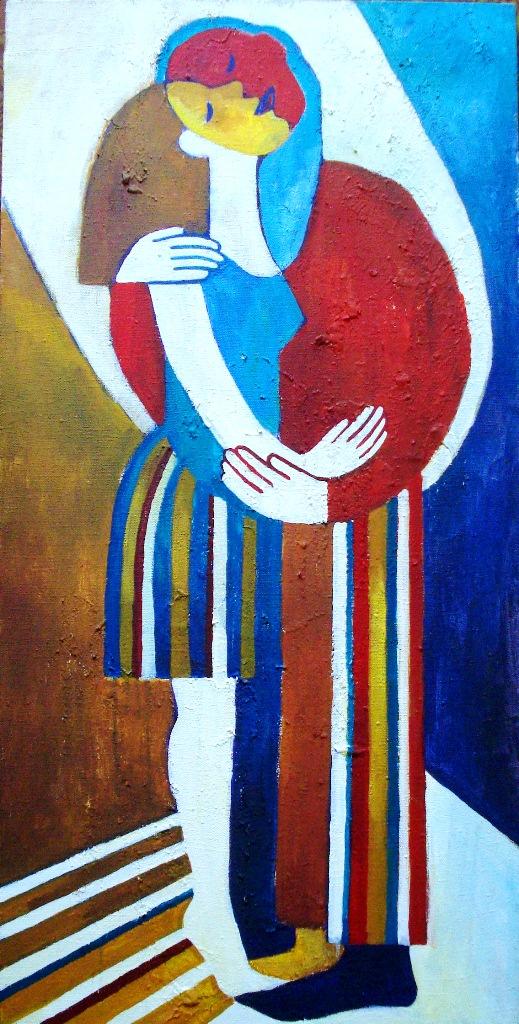 Поцелуй (х., акрил, 100*50 см, 2014)