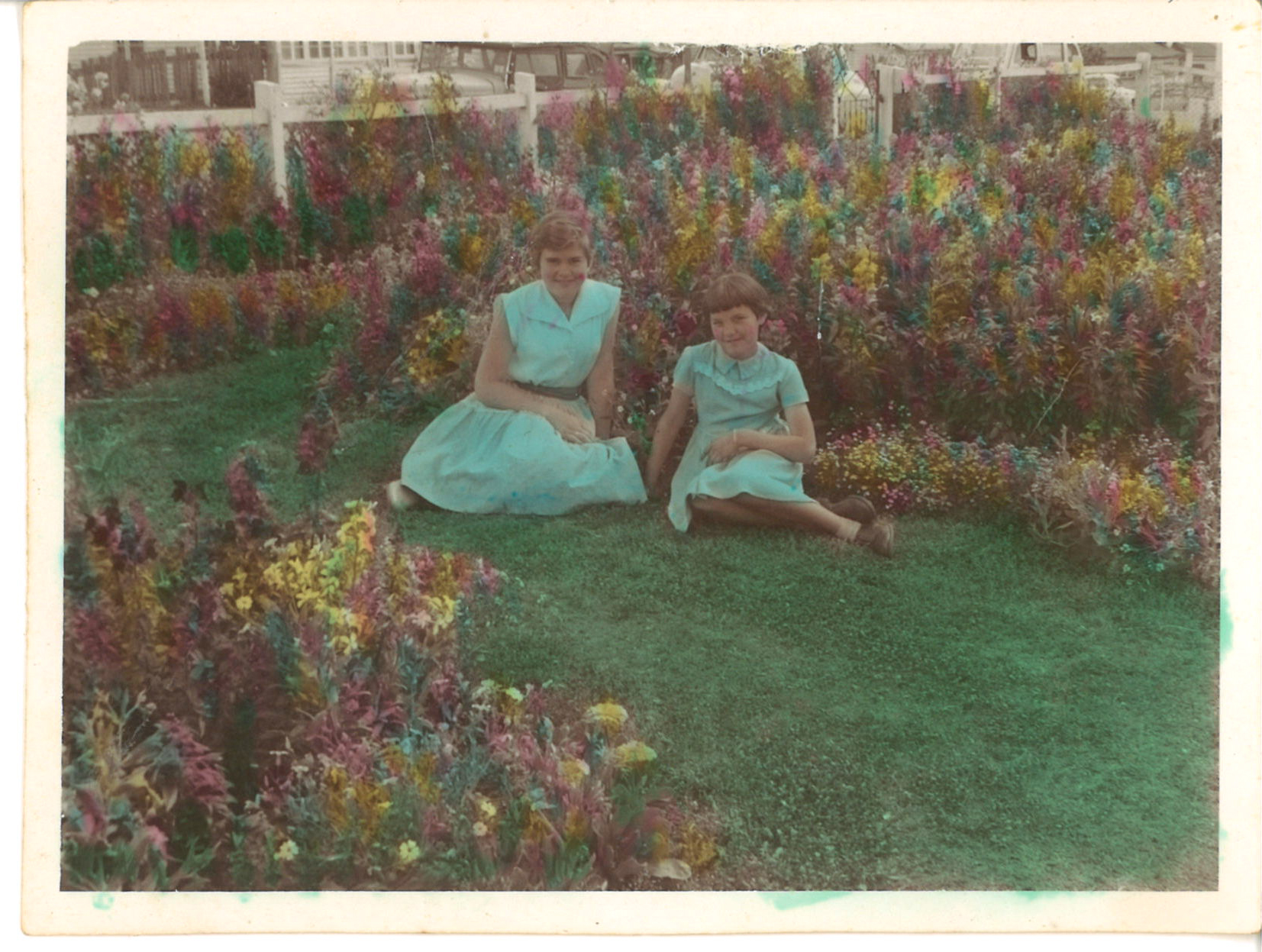 After-school activities were more simple back in my mother's day, here she is playing in the front garden in her family home in Ashgrove in Brisbane, Australia!