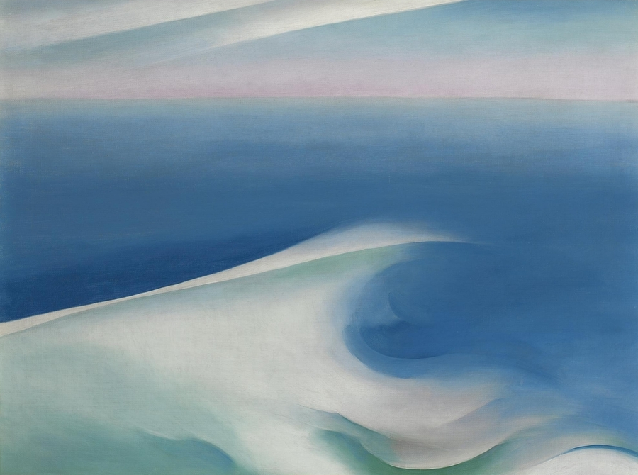 Blue Wave Maine, Georgia O'Keefe - 1926