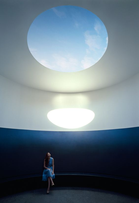 The Color Inside, a Skyspace by artist James Turrell via pinterest