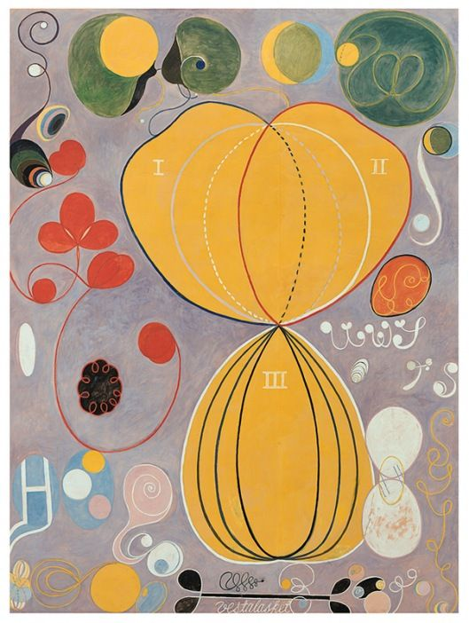 Painting: The Ten Biggest, No 7 by Hilma af Klint, 1907 via Tate on Pinterest.