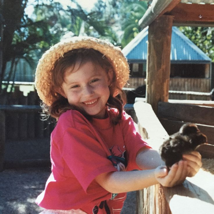 My youngest daughter Louise,engaging with her deep love of animals