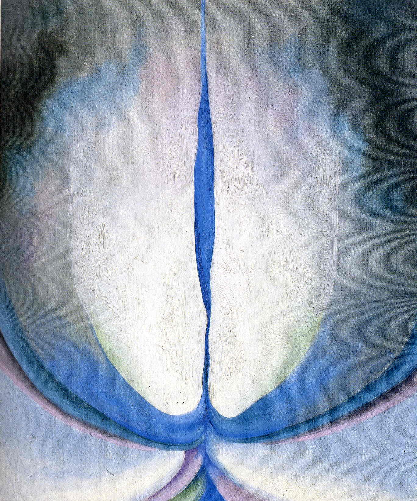 Georgia O'Keefe Blue Line, via Wiki Art