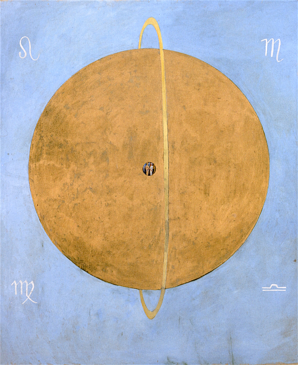 Painting by Hilma Af Klint dove no. 13, 1915