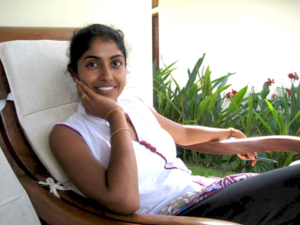Dr Sujatha at  Amrtasiddhi  in Ubud, Bali