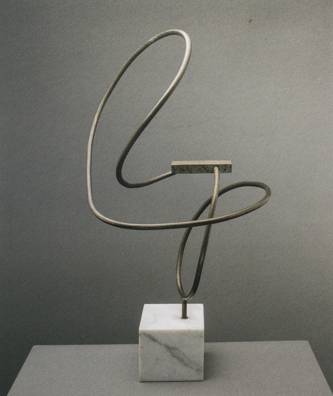 Enio Iommi. Interrupted continuity 1946. Iron 54,6 x 30,5 x 26,7 cm