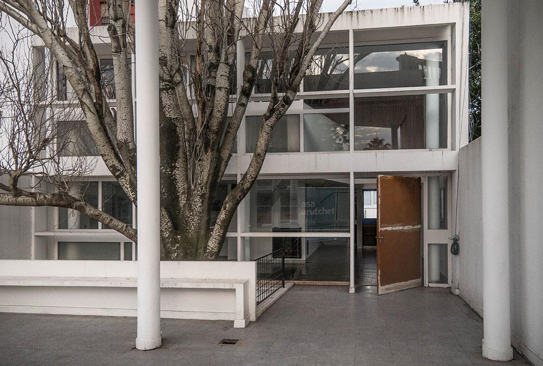 Detalle de la Casa Curutchet, en la ciudad de La Plata. Julio 2016. Foto: Leonardo Antoniadis