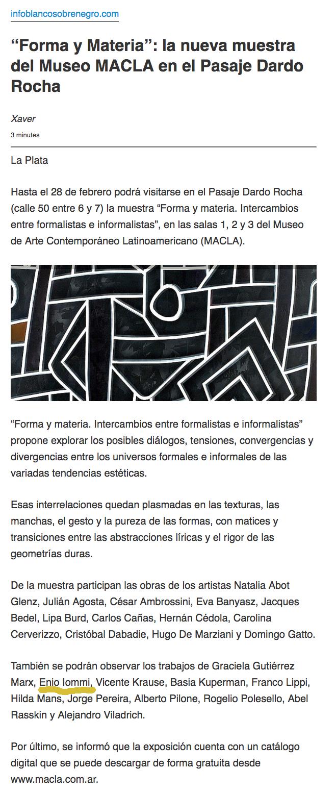 """Screenshot_2019-09-10 """"Forma y Materia"""" la nueva muestra del Museo MACLA en el Pasaje Dardo Rocha.png"""