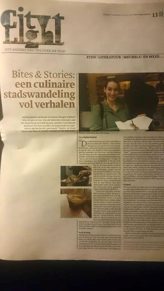 Full page article in Den Haag Centraal