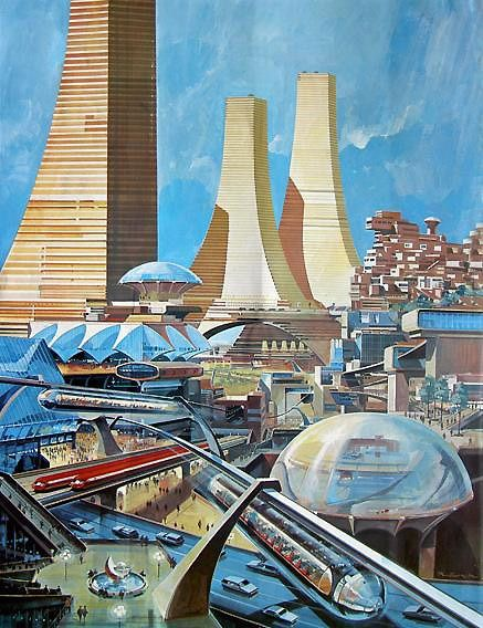 1950s vision of the city of the future