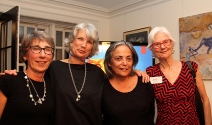 Nadine Goodman with New Yorkers for CASA board members:  Lee Riffaterre, Maria McBride and Pamela Grac