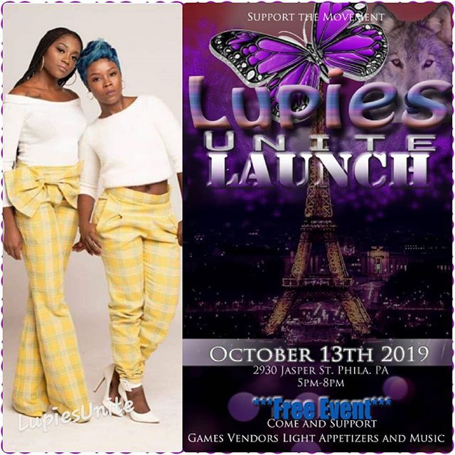 We will be performing  at this event October  13th. The beutiful lady giving the event is a 15yr lupus survivor and she is launching her non-profit LupiesUnite Launch on October 13th in Philly . We're so honored and grateful to perform at her event, Janay @lupiesunite you are a strong woman, we love you girl keep fighting and pushing through your a warrior. So come out and support this amazing event, and yes its free... S/O our stylist @landa_style_collections she keeps us looking good we love you girl....