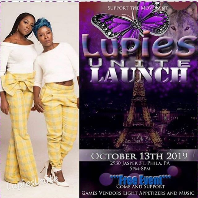 #WeSupport The Cause For All Those Impacted By Lupus. On #Oct13 @aviancemusiq Will Be Live At The Lupies Unite Launch, Located At 2930 Jasper St Phila PA from 5PM to 8PM. This Is A #FREEEVENT Come Out To Support The Movement & Such A Strong Group Of #Winners Hope To See You There 💜🤳🏾🙌🏾