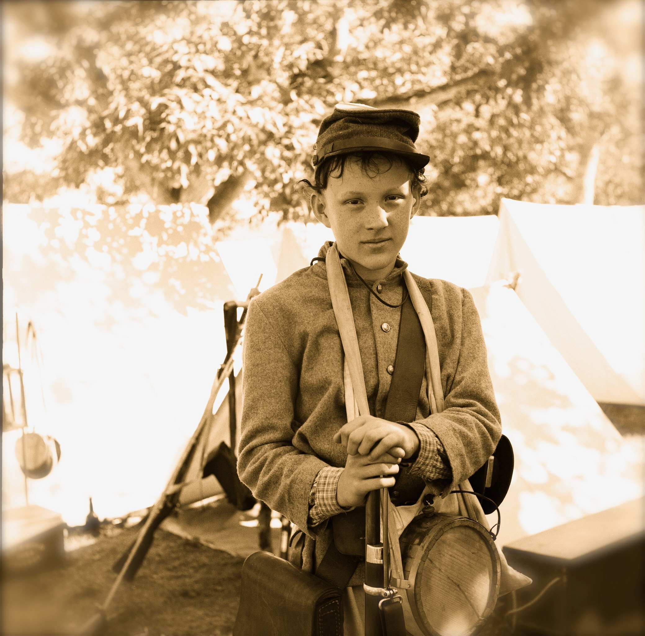 Civil War Re-enactment (Young Confederate)