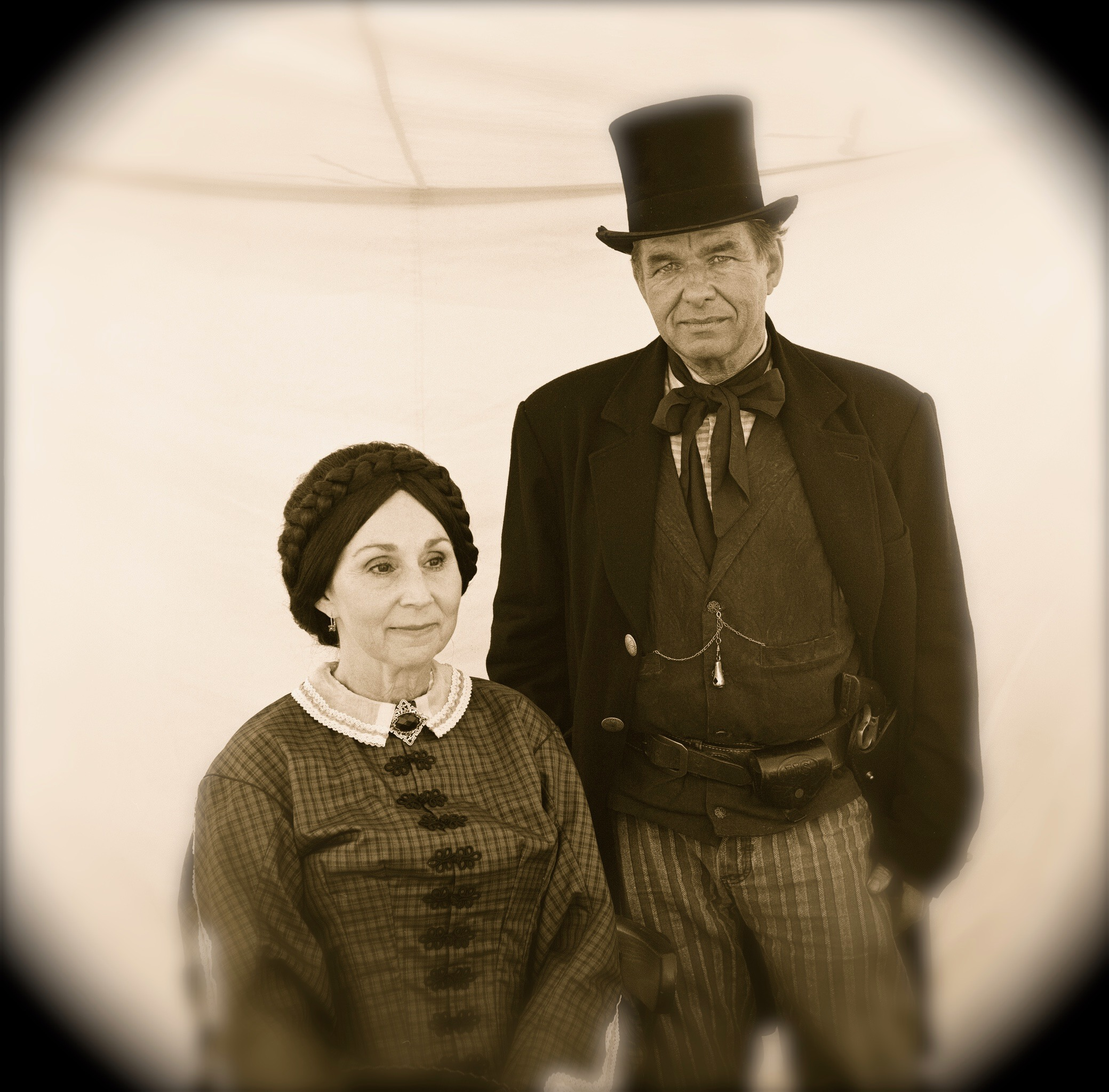 Jefferson Davis & Wife from Civil War Re-Enactment
