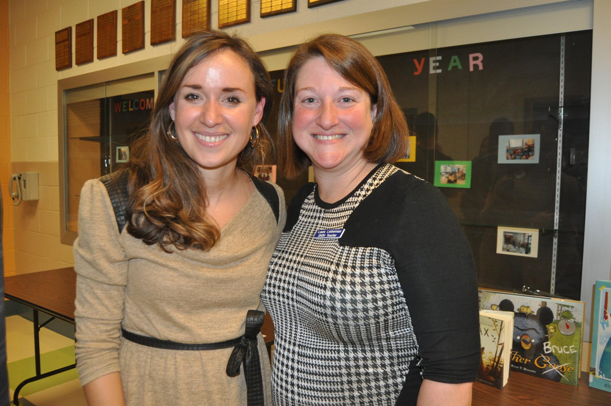 Counselor, Stephanie Hespe & Auditory Teacher, Laura Lieberman @ Back to School Night