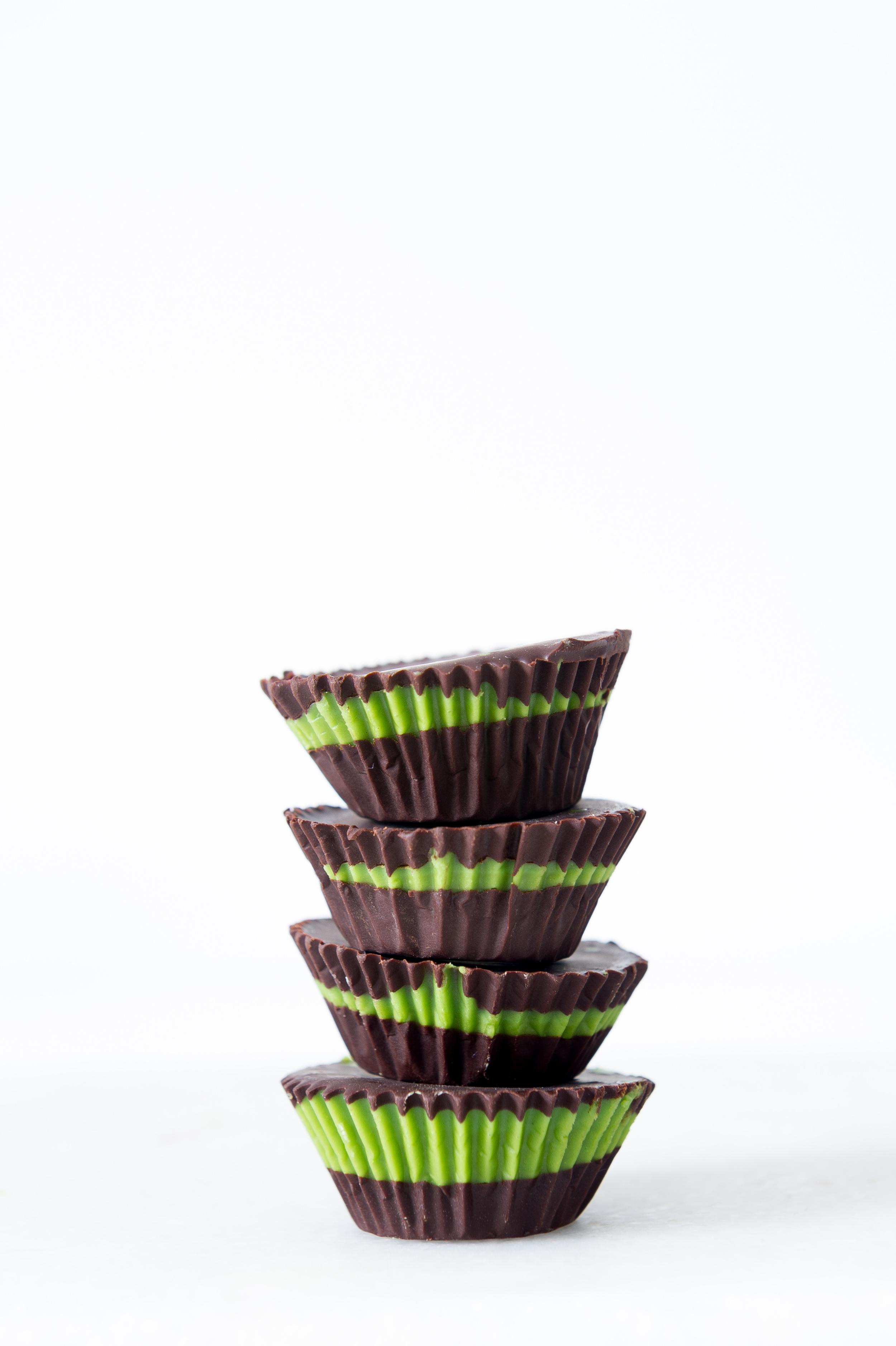 Chocolate Matcha Cups.Gluten free, Dairy free, Vegan.