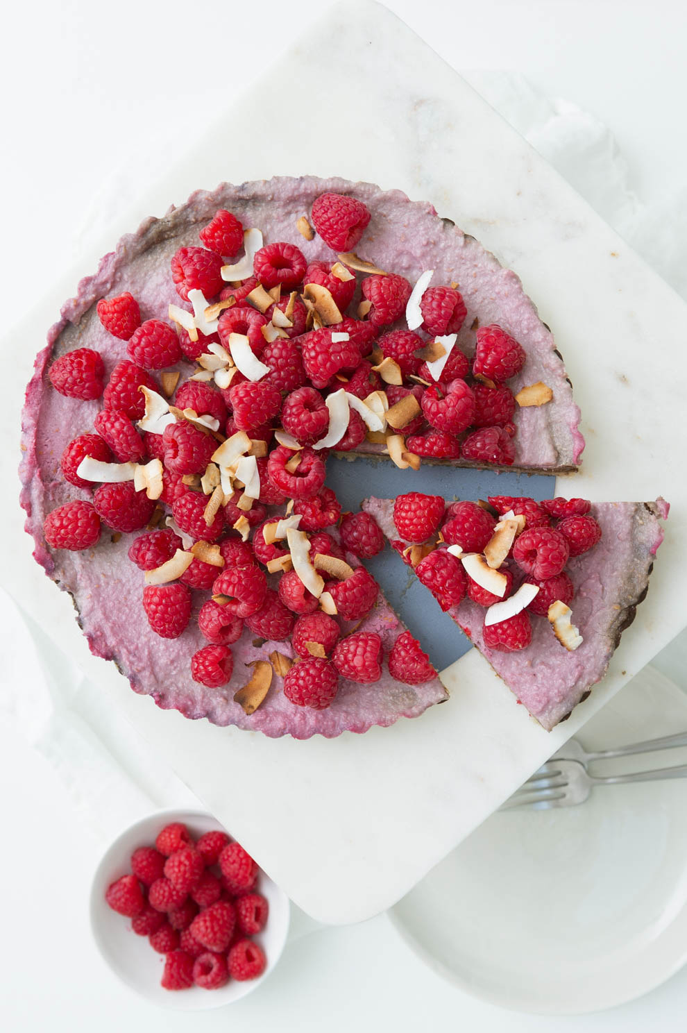 Vegan and Gluten free Raspberry Chocolate Mousse Cake recipe by Heather Cox of Eat Real Food
