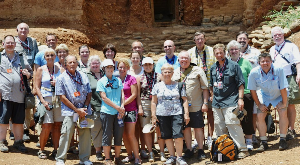 Tim Perkins and a Pilgrim Tour from First Church of Christ, Burlington, Kentucky.