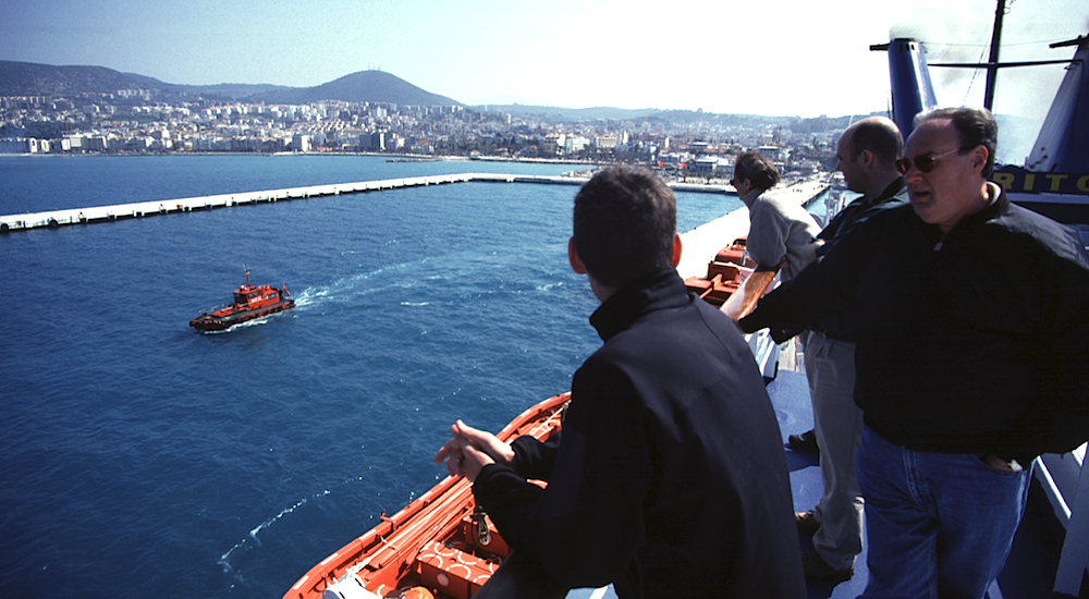 Don and friends in Kusadasi Harbor, Turkey.