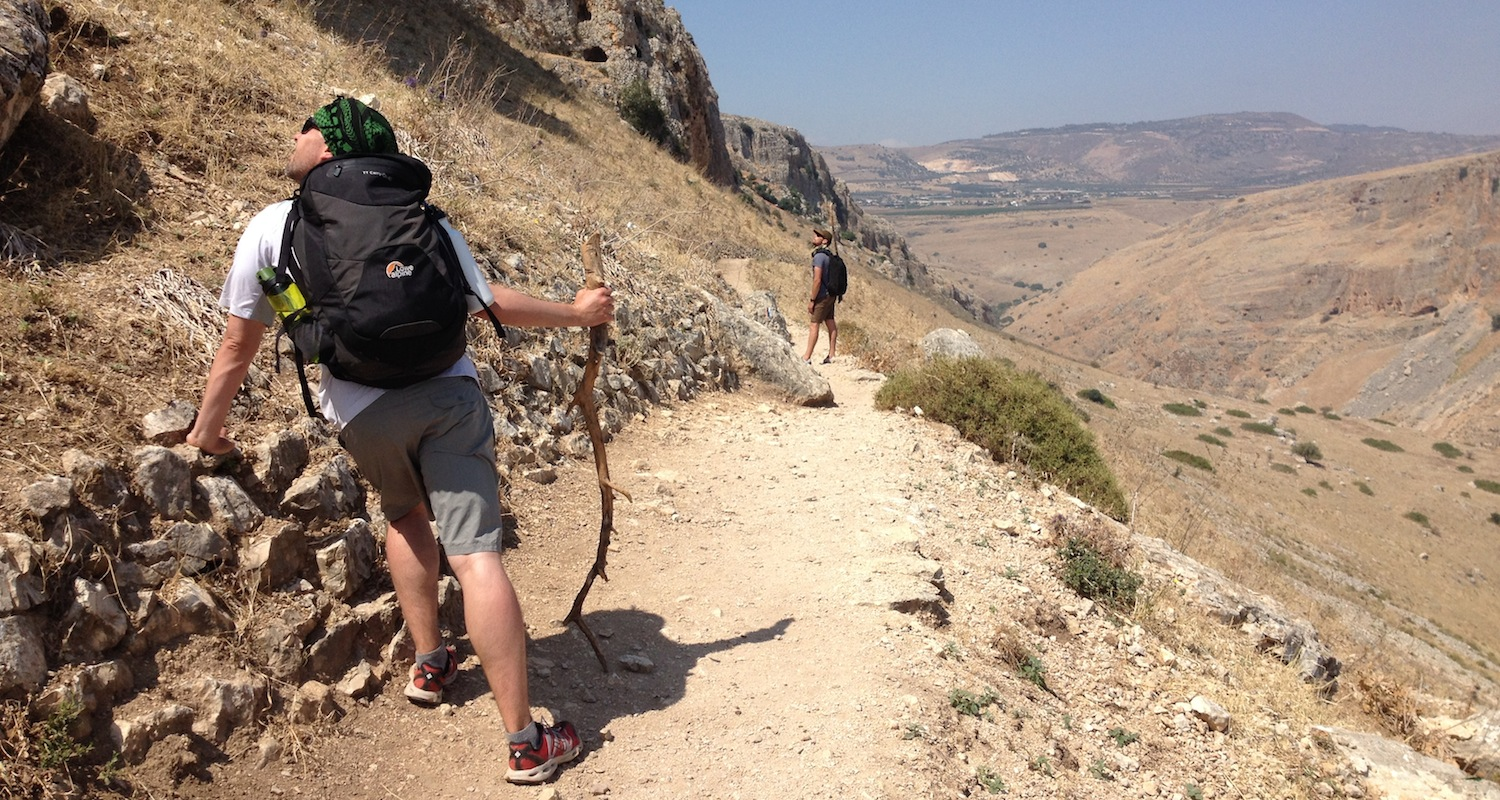 Hiking the Jesus Trail across Galilee in the good company of Seth Bryant and Todd Liles (2014) .