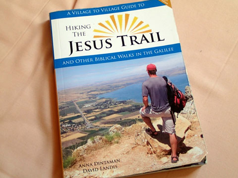 My slightly worn copy of Hiking the Jesus Trail. It is even more worn today.