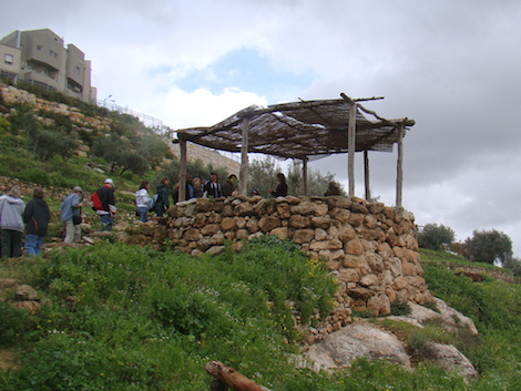 """The structures at Nazareth Village, Nazareth, include a model of an agriculturalmigdal, qusoor,or """"watchtower."""" Our groups always enjoy this stop. Photo by Matt Wickham from a 2010 CCU Study Tour."""