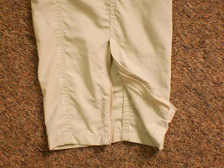 Ankle zips make it easier to slide the leggings over shoes.