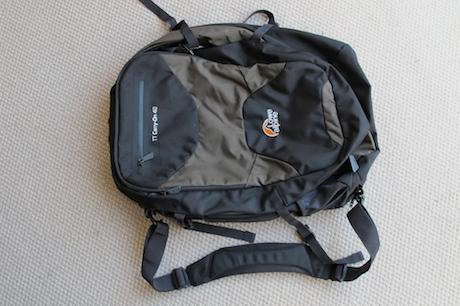 This 40 liter backpack is the smaller version of Lowe's popular TT Tour 70. It will force you to downsize, yet has all the space you need for two weeks of travel. Image from here  .