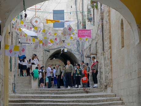 The Christian Quarter, earlier in the day.