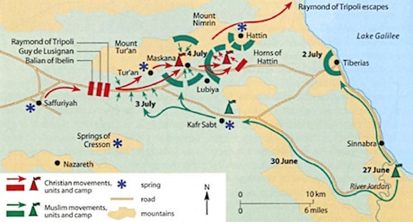 A reconstruction of events. Map from here.