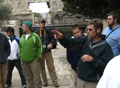 CCU student group in Jerusalem.