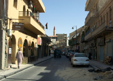 Street view to the Church of John the Baptist.