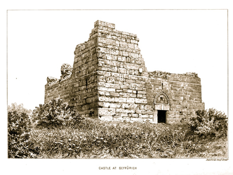 The fort as it appeared in an 1881 publication by Conder and Kitchener. For this image and a careful description, see here.