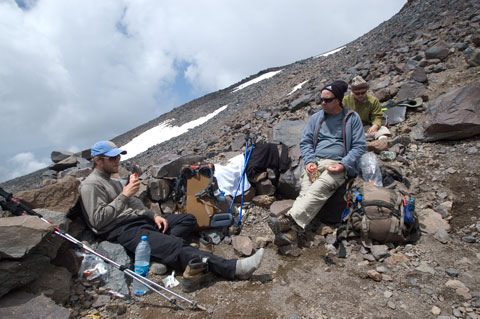 A comfortable lunch in High Camp.